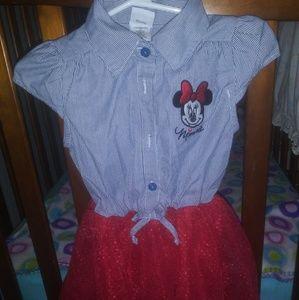 Toddler Girls Minnie Mouse Tutu Dress